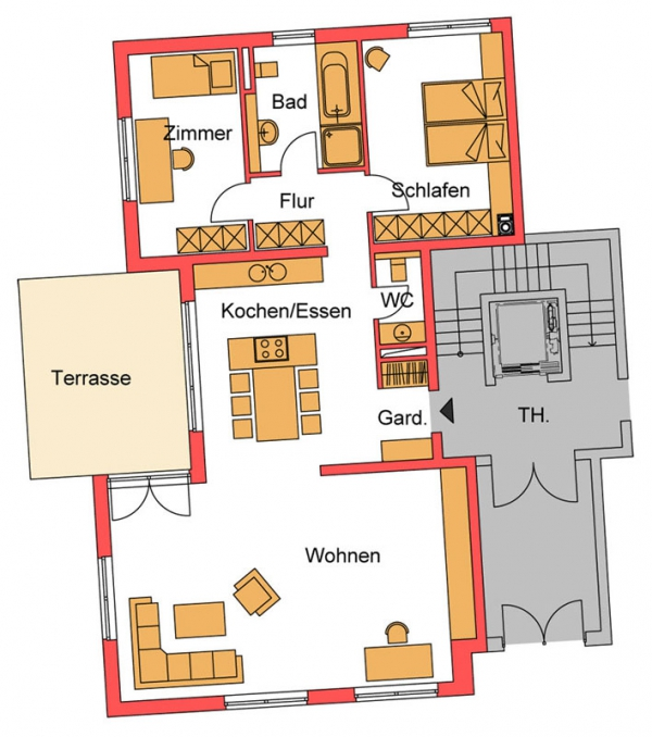 erdgeschosswohnung neuwied heddesdorfer berg. Black Bedroom Furniture Sets. Home Design Ideas